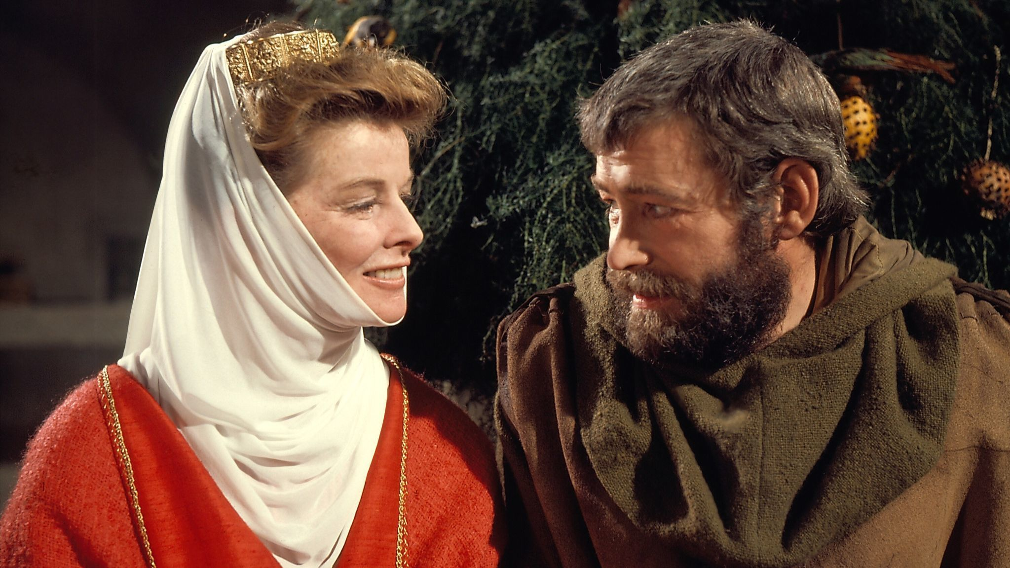 "Katharine Hepburn as Eleanor of Aquitaine and Peter O'Toole Henry II in ""The Lion in Winter."" Credit"