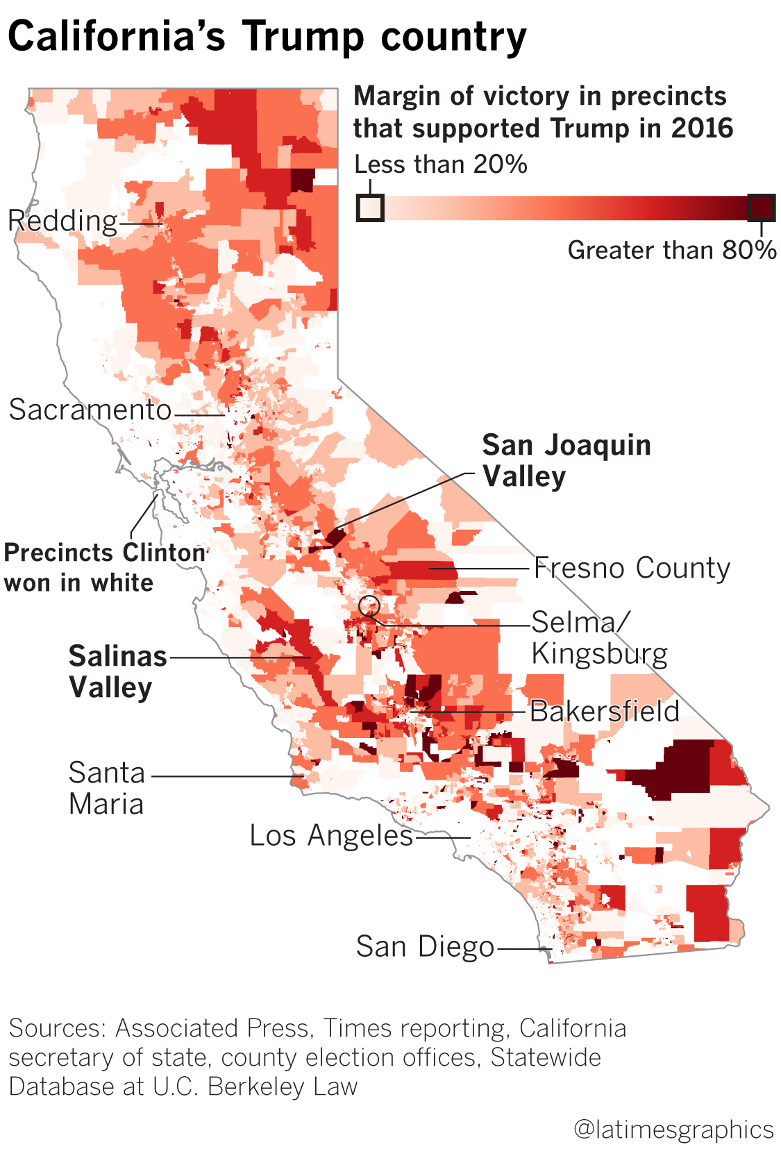 California Ratings Map on