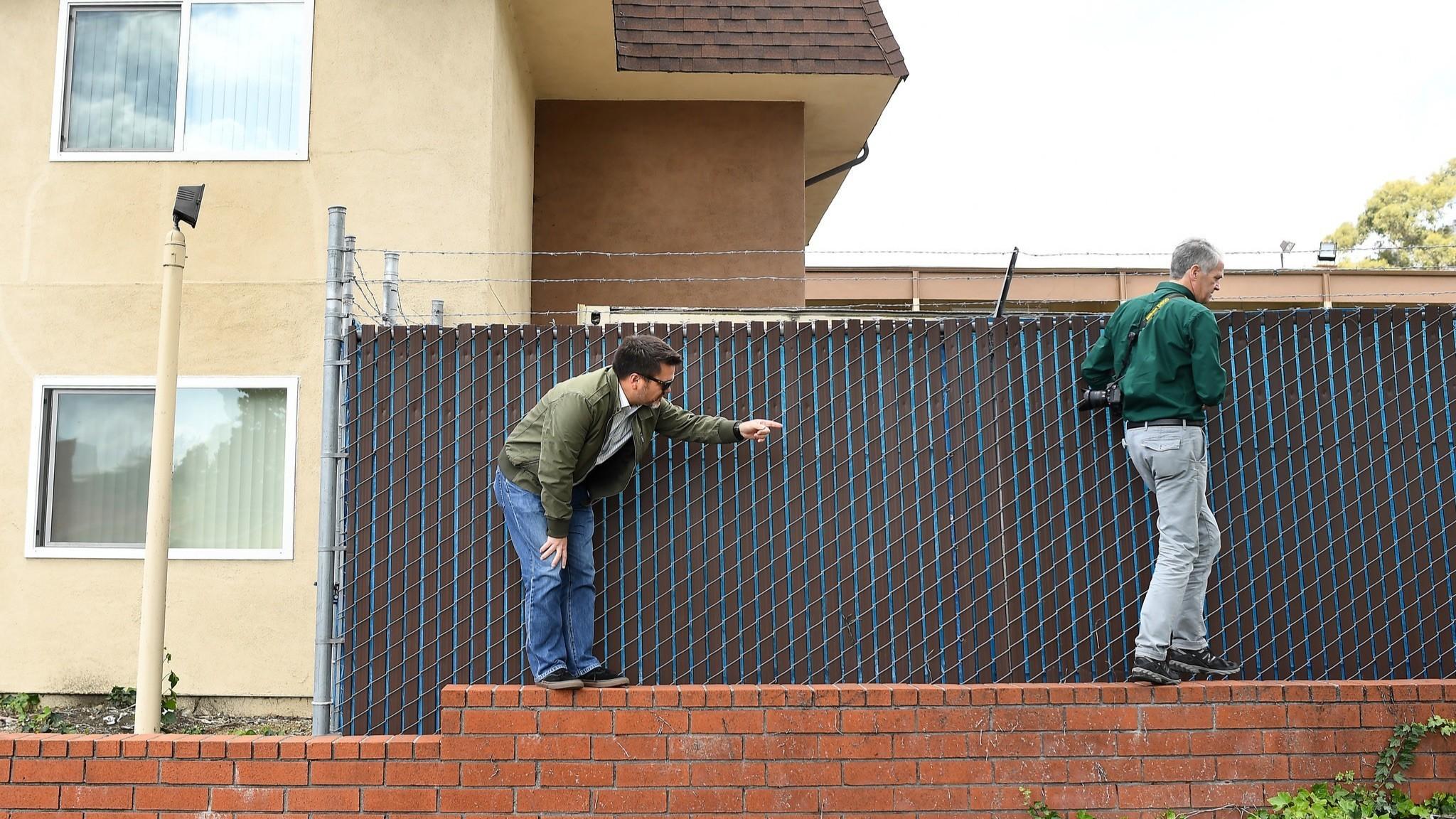 Wall bent by Hayward fault