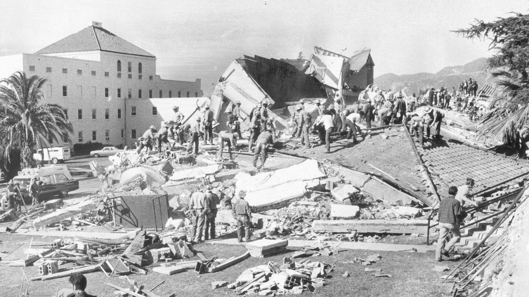 1971 Sylmar earthquake damage