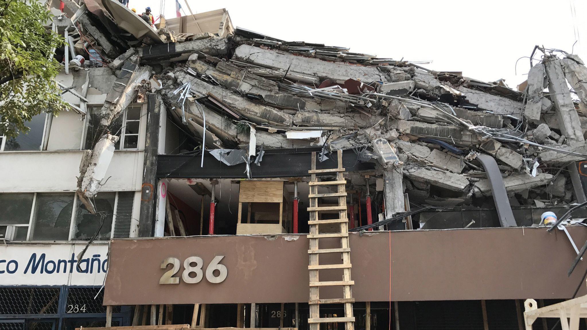 2017 Mexico City earthquake damage