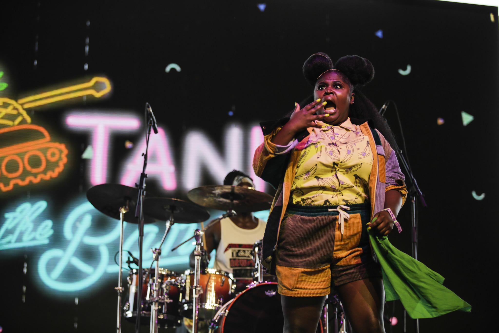 INDIO,CA — FRIDAY, APRIL 20, 2018-- Tanks the Bangas performs at Coachella week two. (Maria Alejand