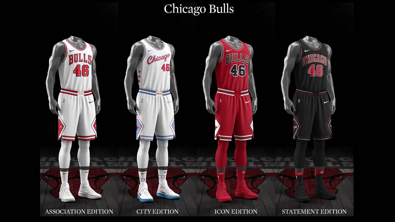04e7254ecfa Ranking the NBA s new Nike-designed uniforms - Chicago Tribune