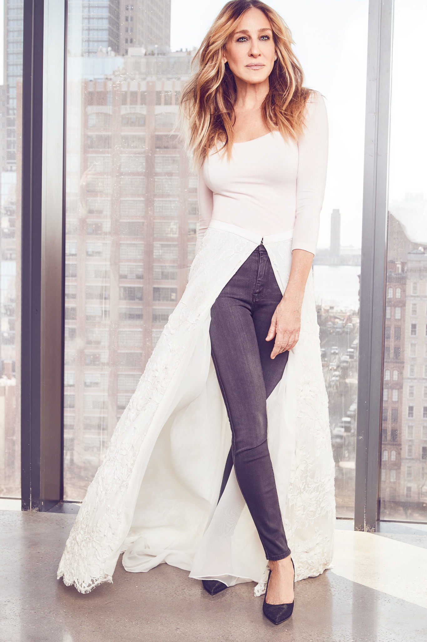 Sarah Jessica Parker in one of her bridal looks for Gilt.