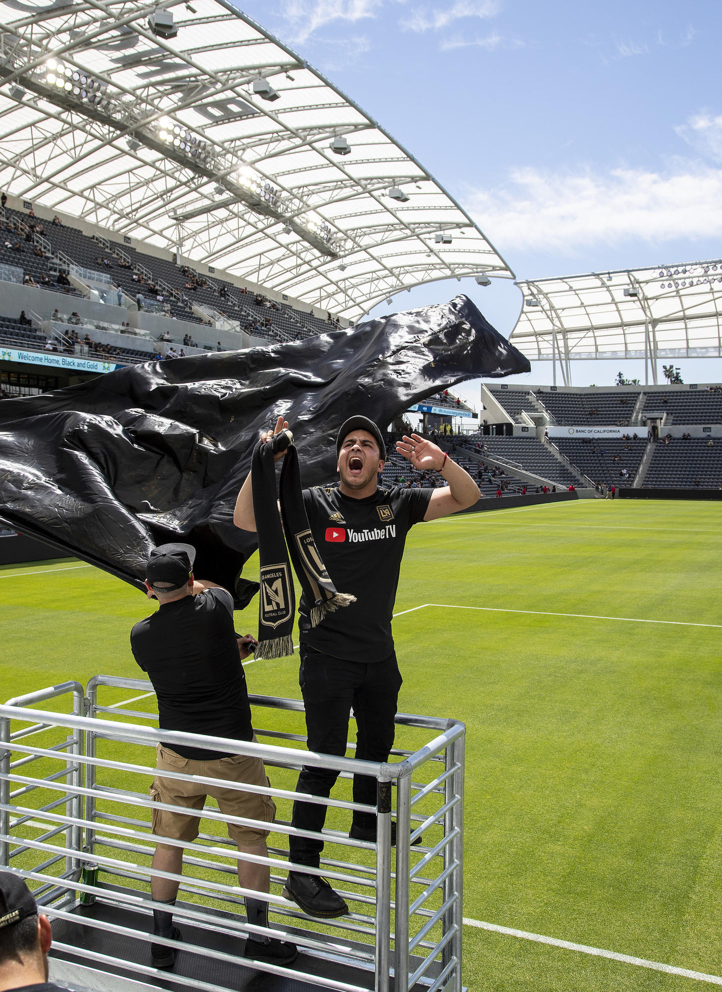 """781ee9acc ... called the Empire Boys while watching an LAFC soccer game on giant  video screens inside the Banc of California Stadium. GIna Ferazzi   Los  Angeles Times. """""""