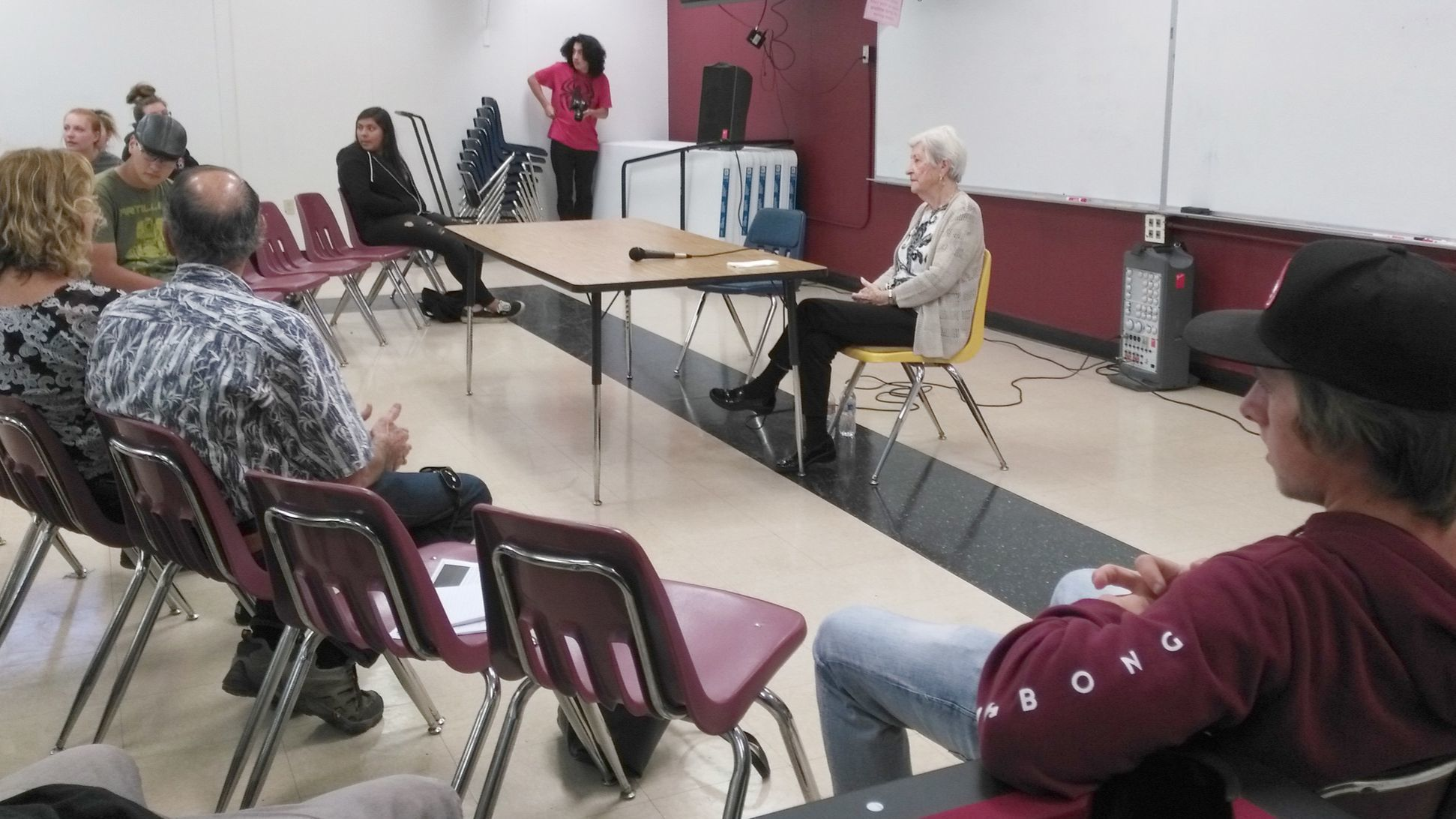 Rose Schindler shares her personal experiences of surviving the Auschwitz concentration camp with Montecito High School students and staff.