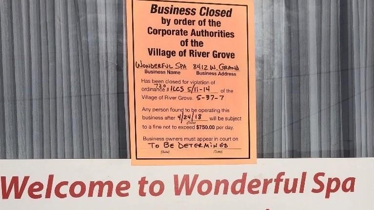 River Grove massage business ordered closed as 2 employees face  prostitution charges, police say - Elm Leaves
