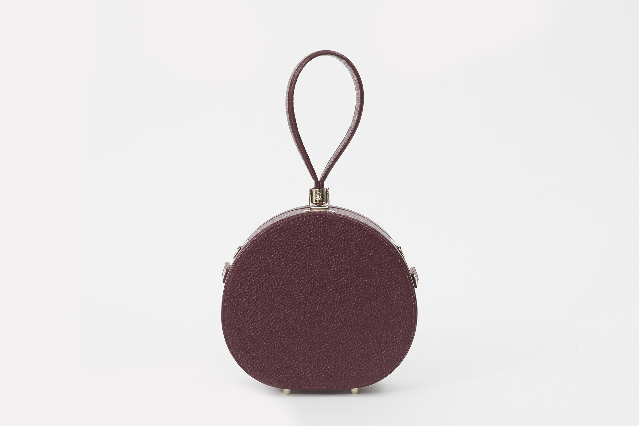 Freya's Demi Poppy Round Leather Bag.