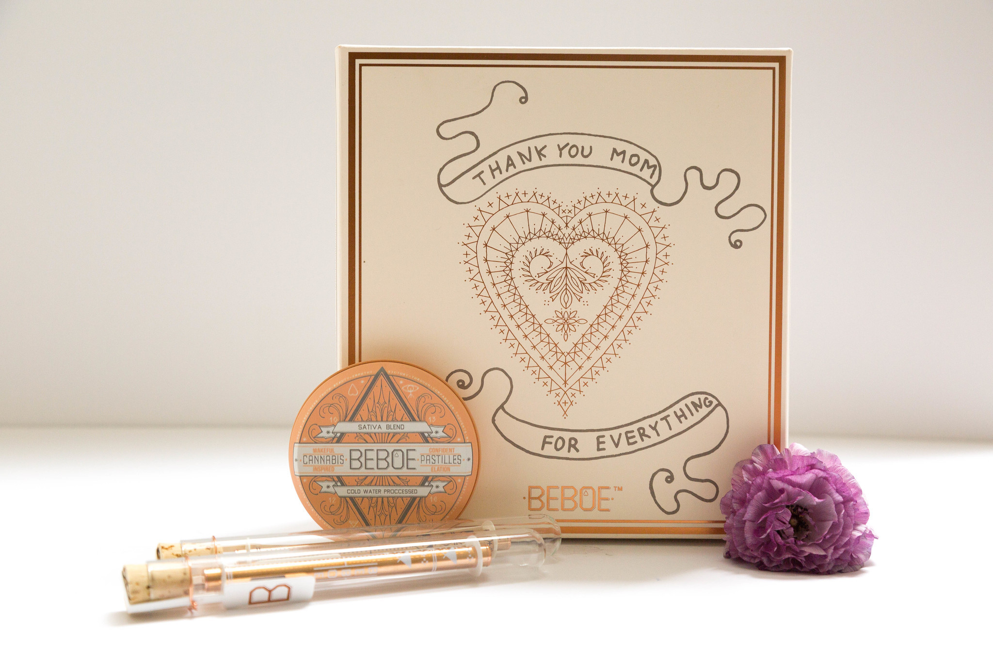 Beboe's limited-edition Mother's Day cannabis gift set.