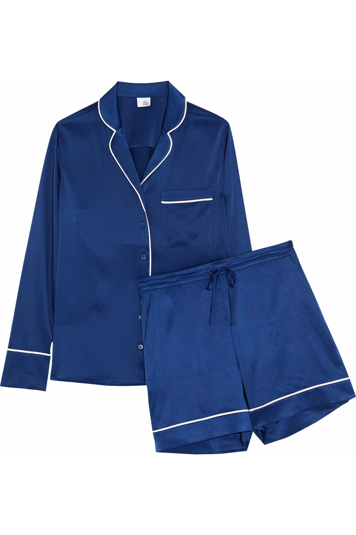 Iris & Ink's Dylan silk-blend satin pajama set.