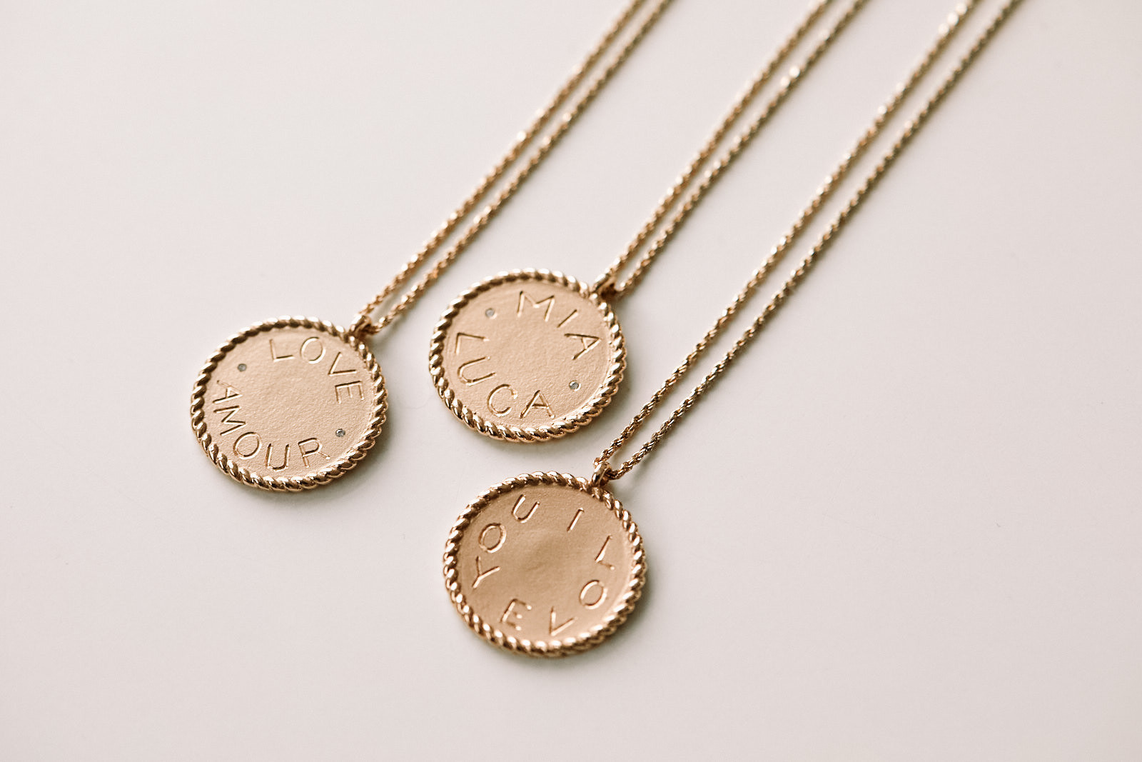 Ariel Gordon's Imperial Disc Pendant necklace.