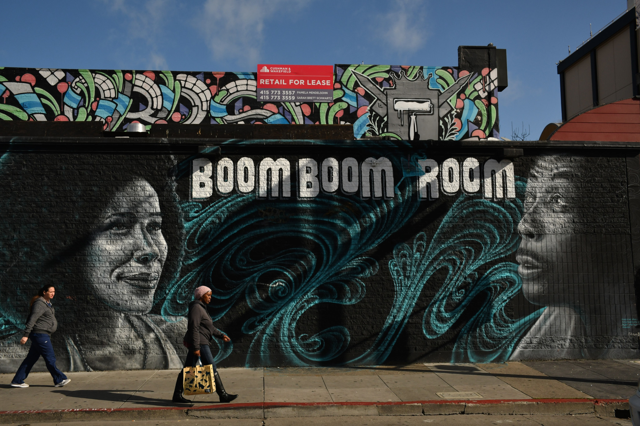 The Boom Boom Room is a lounge and music venue at Fillmore Street and Geary Boulevard in San Francisc