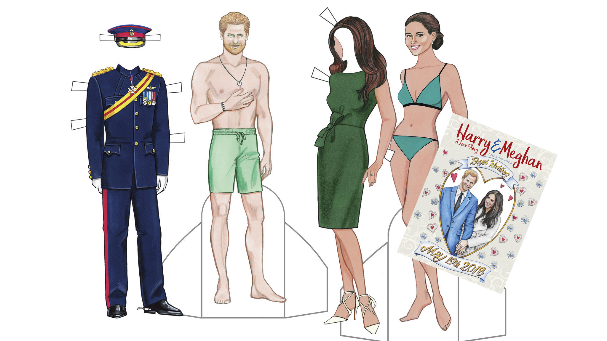 Harry and Meghan paper dolls capture