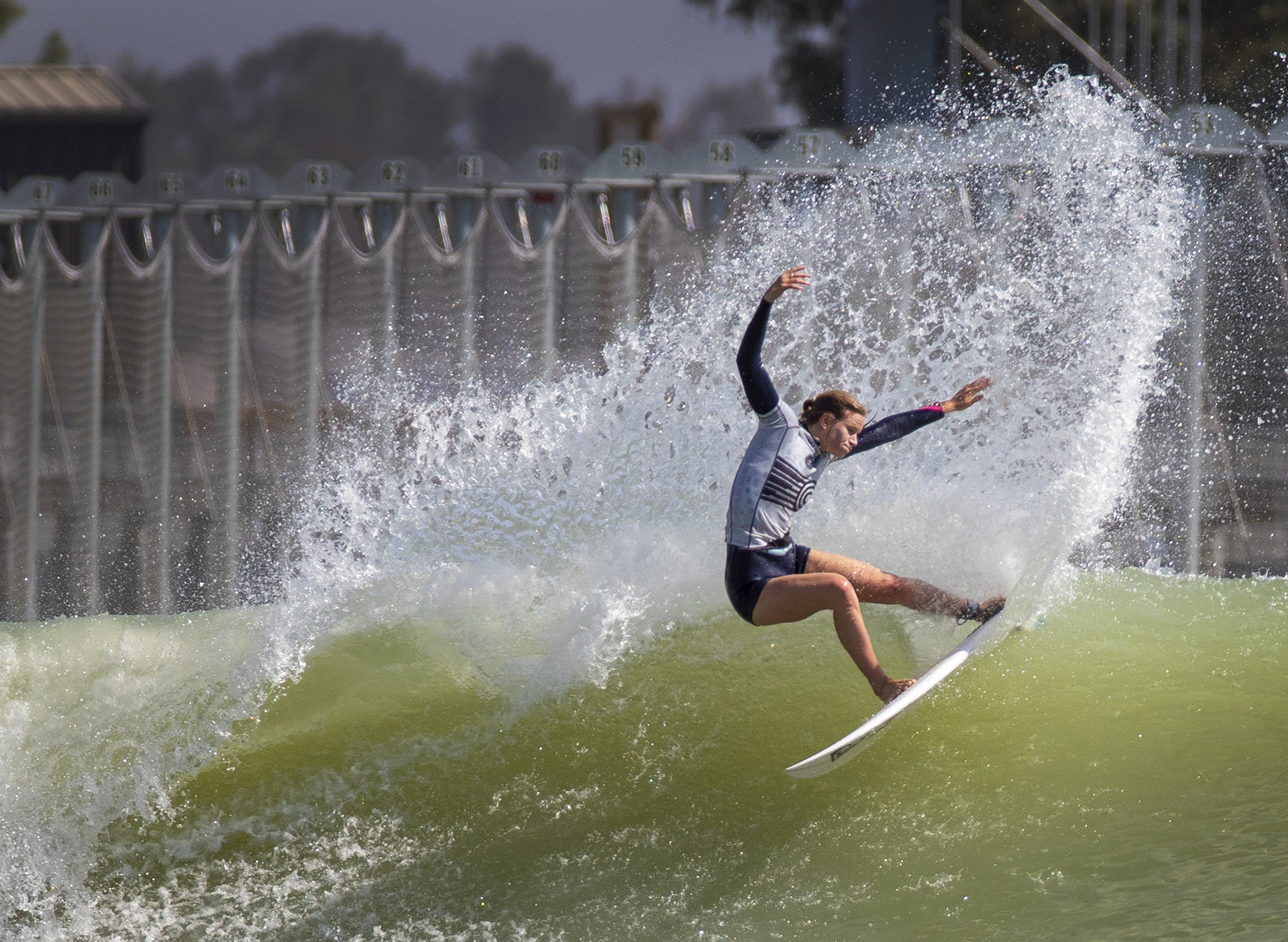 LEMOORE, CALIF. — FRIDAY, MAY 4, 2018: Pro surfer Bianca Buitendag, of South Africa, who is compet