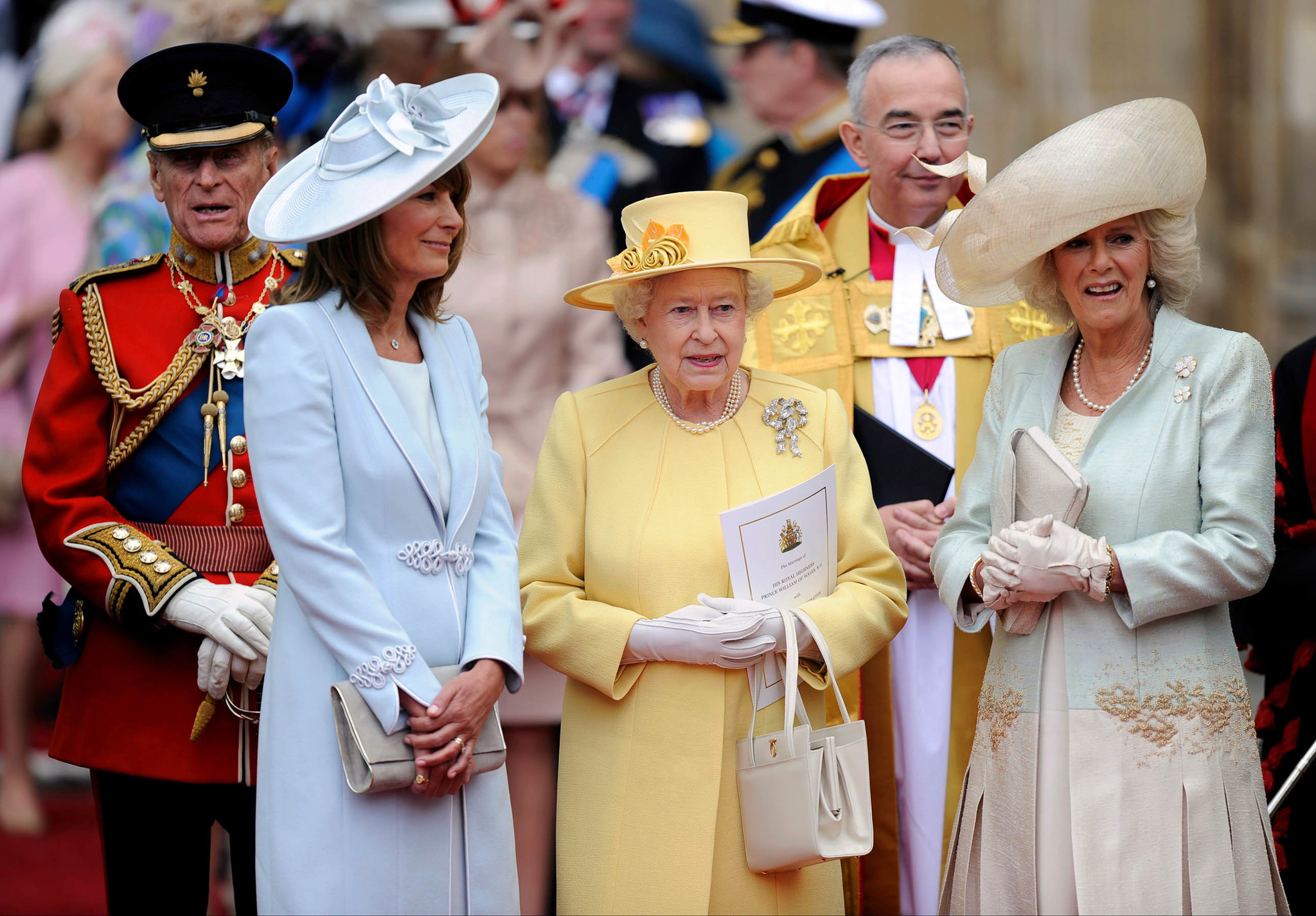 April 29, 2011: From left, Prince Phillip, Carole Middleton, Queen Elizabeth II and Camilla, Duchess