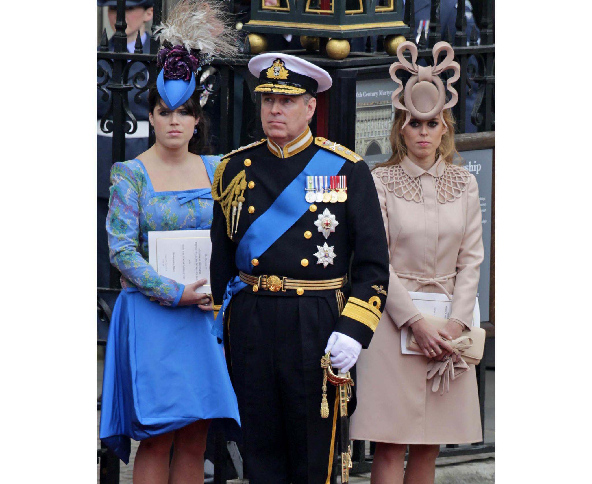 Prince Andrew,Princess Eugenie, Princess Beatrice