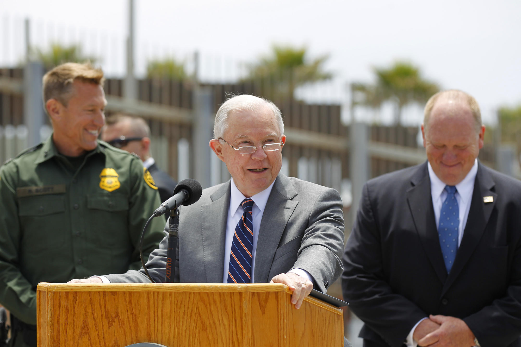 Attorney General Jeff Sessions at border