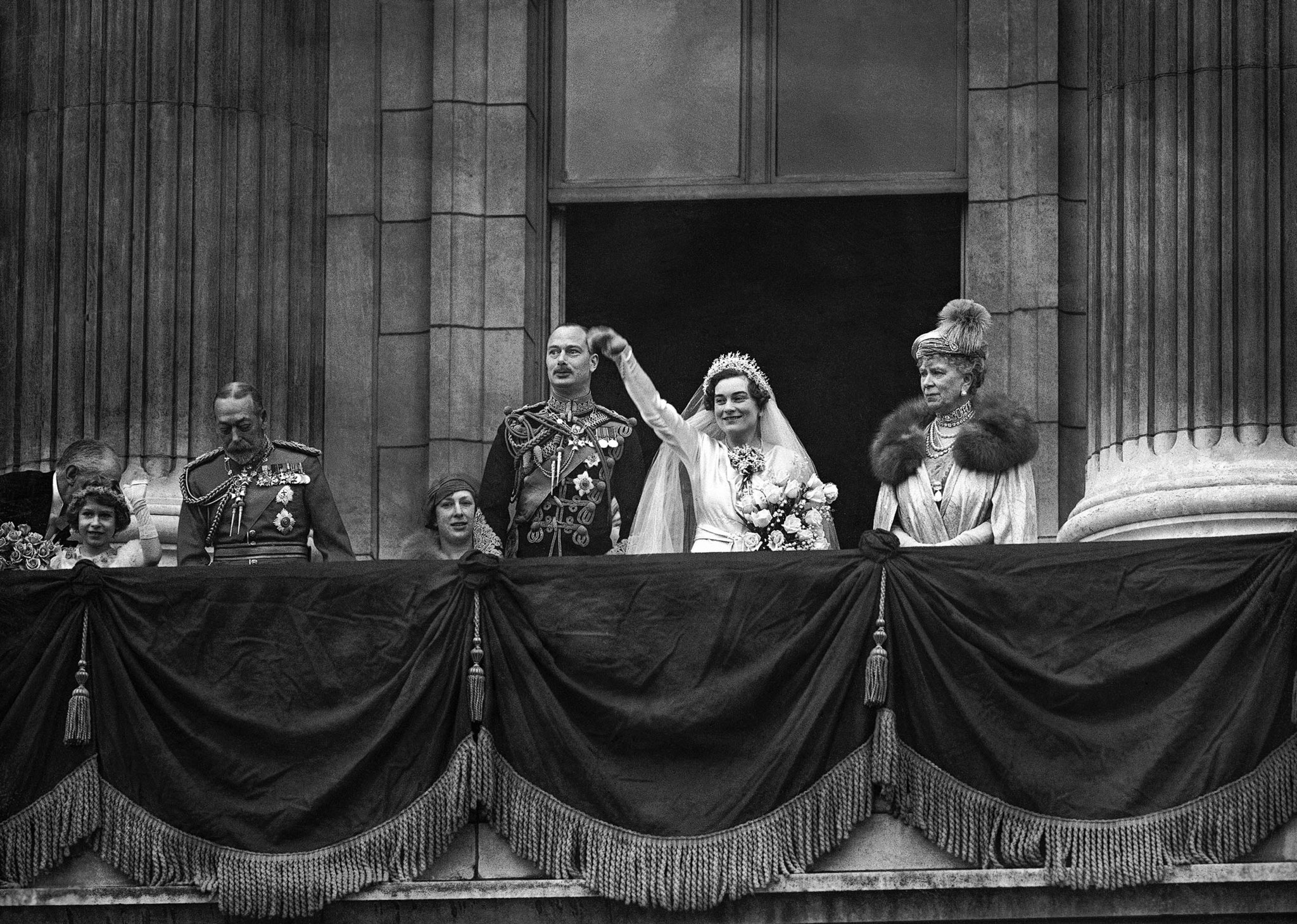 Prince Henry, Princess Alice, King George V, Queen Mary, Princess Elizabeth