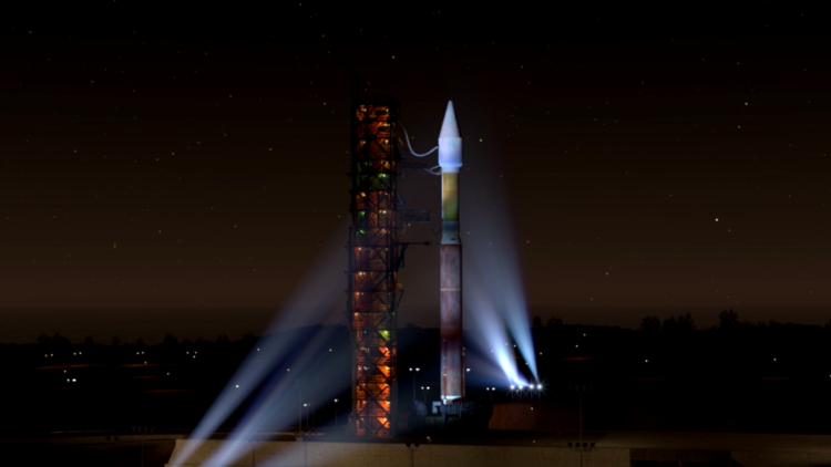 Liftoff of InSight from Vandenberg Air Force Base in California