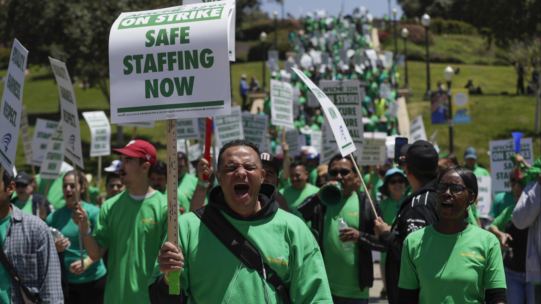 We are humans too:' Voices of UCLA's striking custodians
