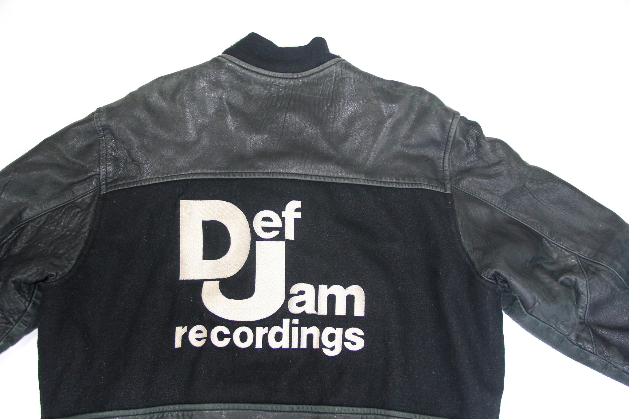 This Def Jam leather varsity jacket is one of the pieces on offer at the Procell Depop collaborative pop-up in Silver Lake.