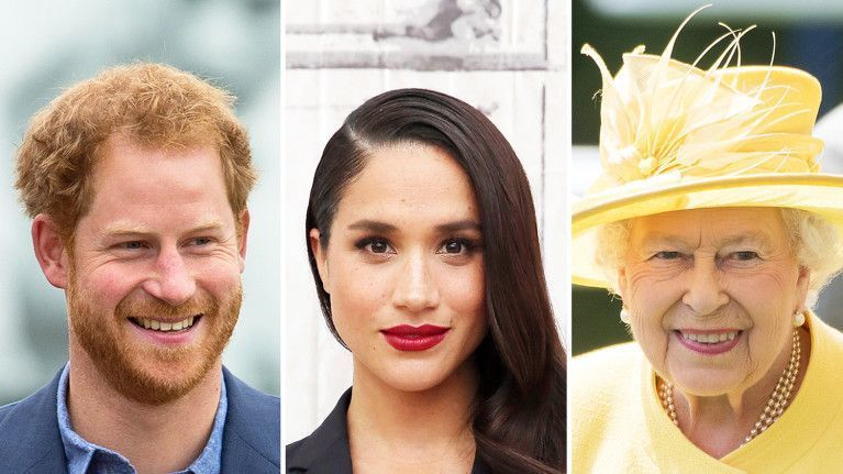 Prince Harry, Meghan Markle and Queen Elizabeth II