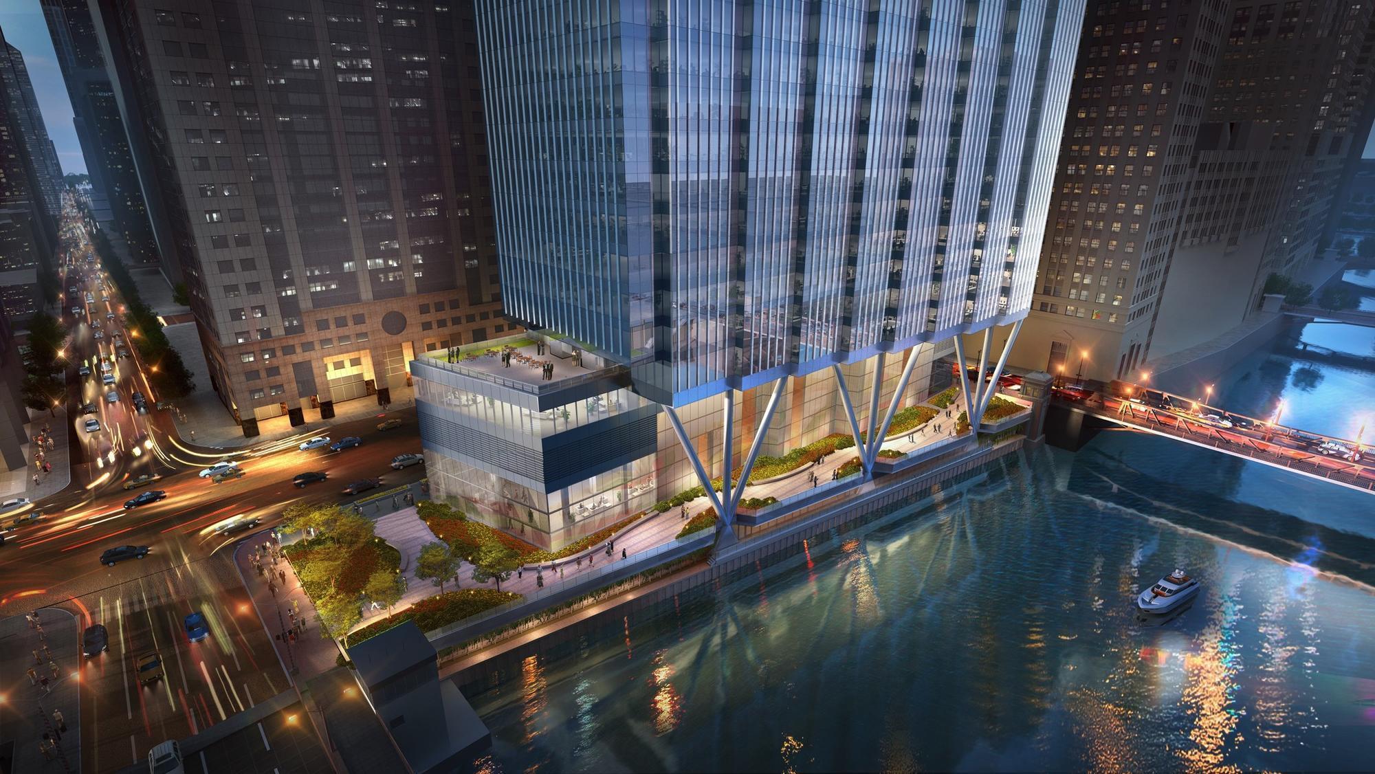 Wacker Drive Office Development Along Chicago River Lands 665 Million In Construction Financing