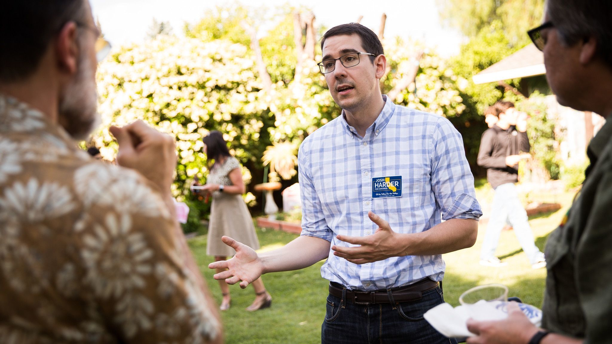 MODESTO, CA MAY 8, 2018 — Democratic congressional candidate Josh Harder speaks with voters during