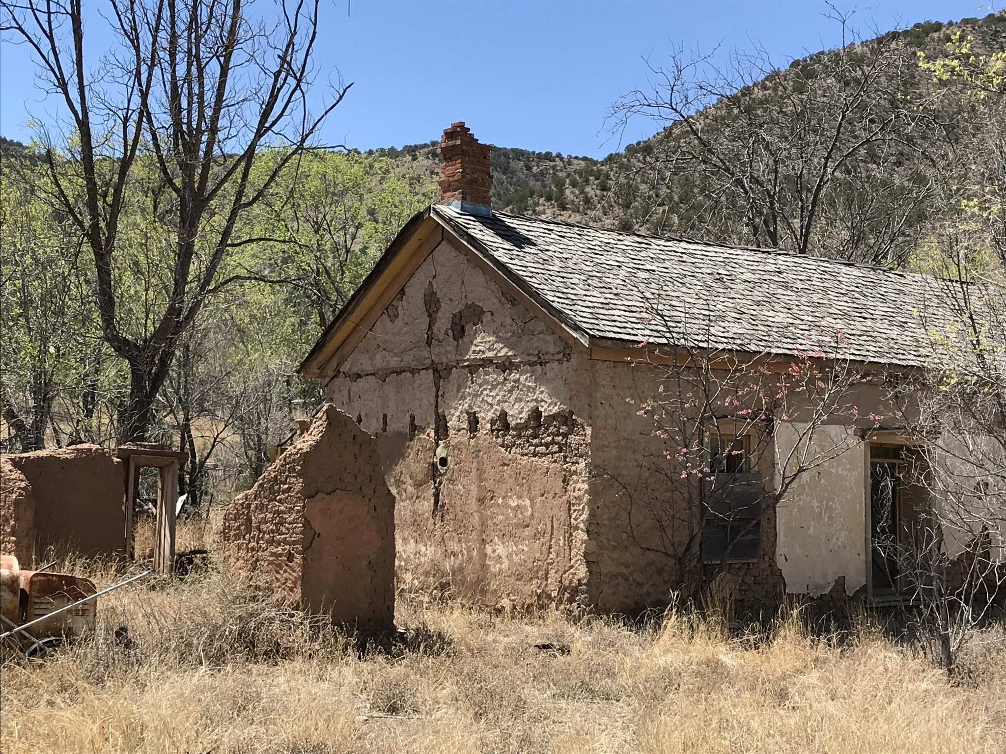 The town of Lincoln is a New Mexico State historic sIte. Some buildings have been restored, some are