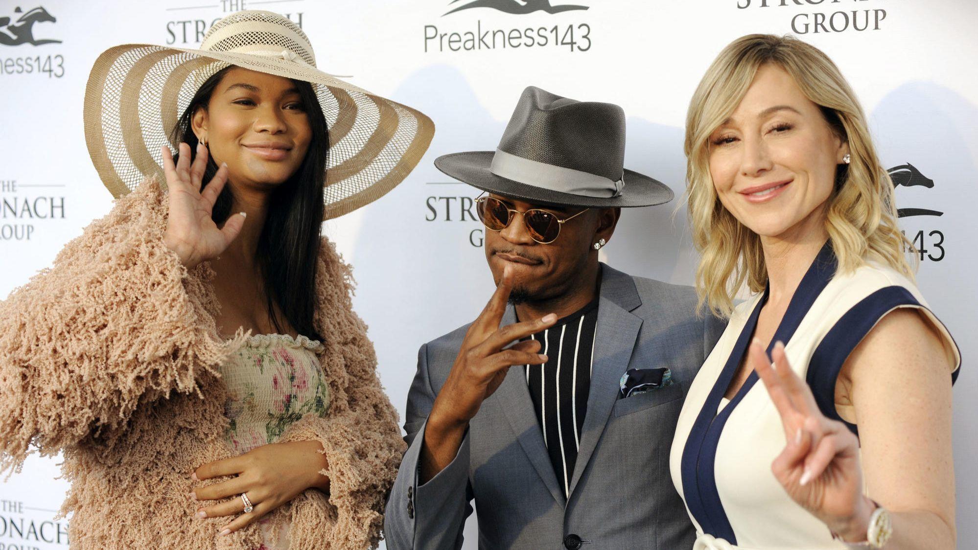 Ne Yo Chanel Iman Among Celebrities Spotted At Preakness