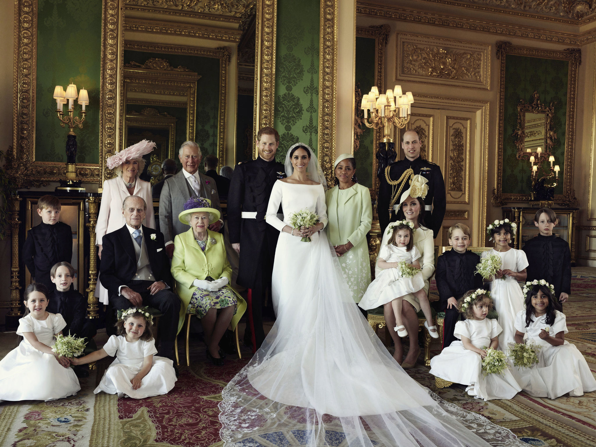prince harry and meghan markle s official wedding portrait released