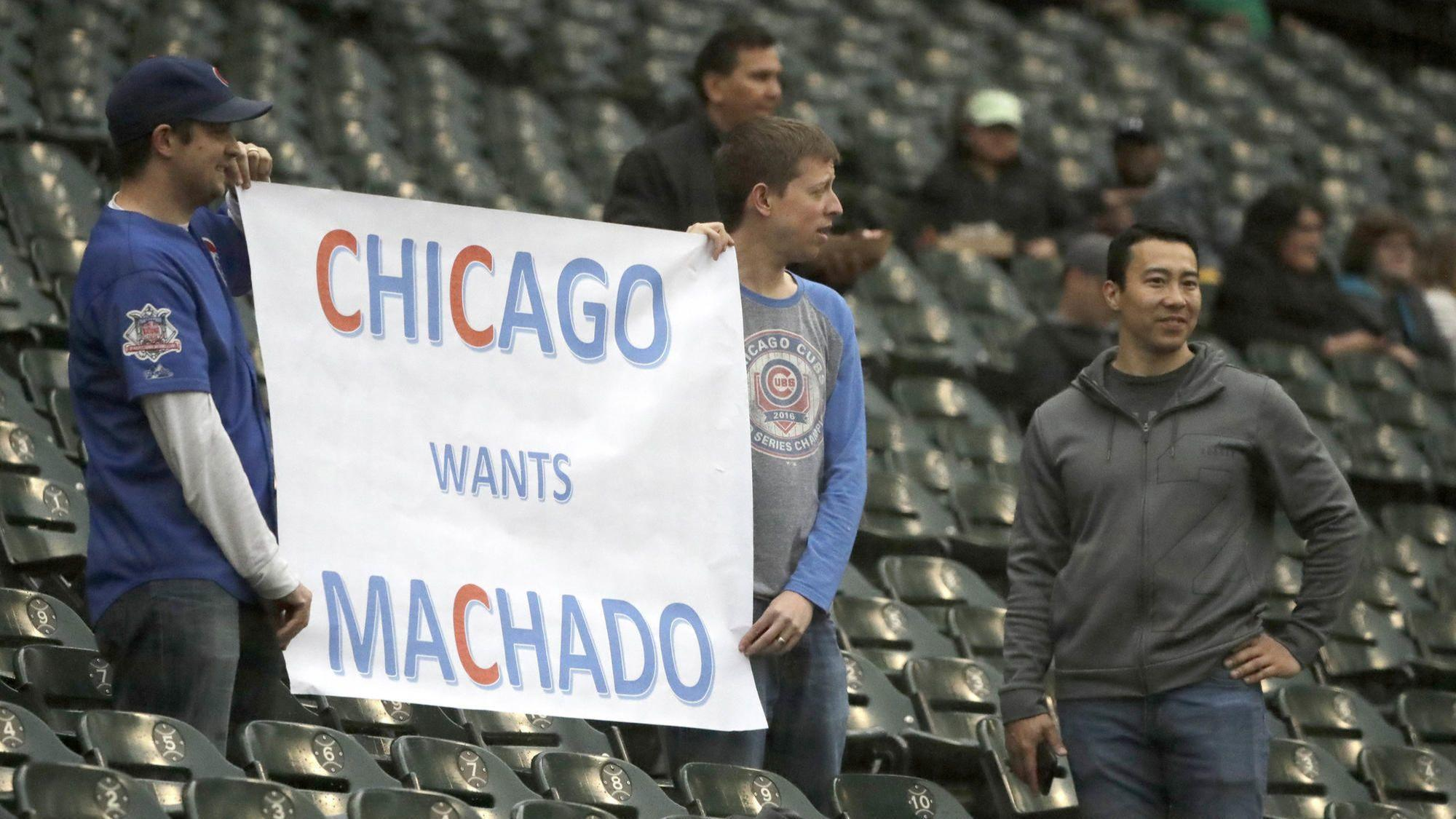 Orioles teammates play along as Machado is greeted in Chicago as potential savior for Cubs