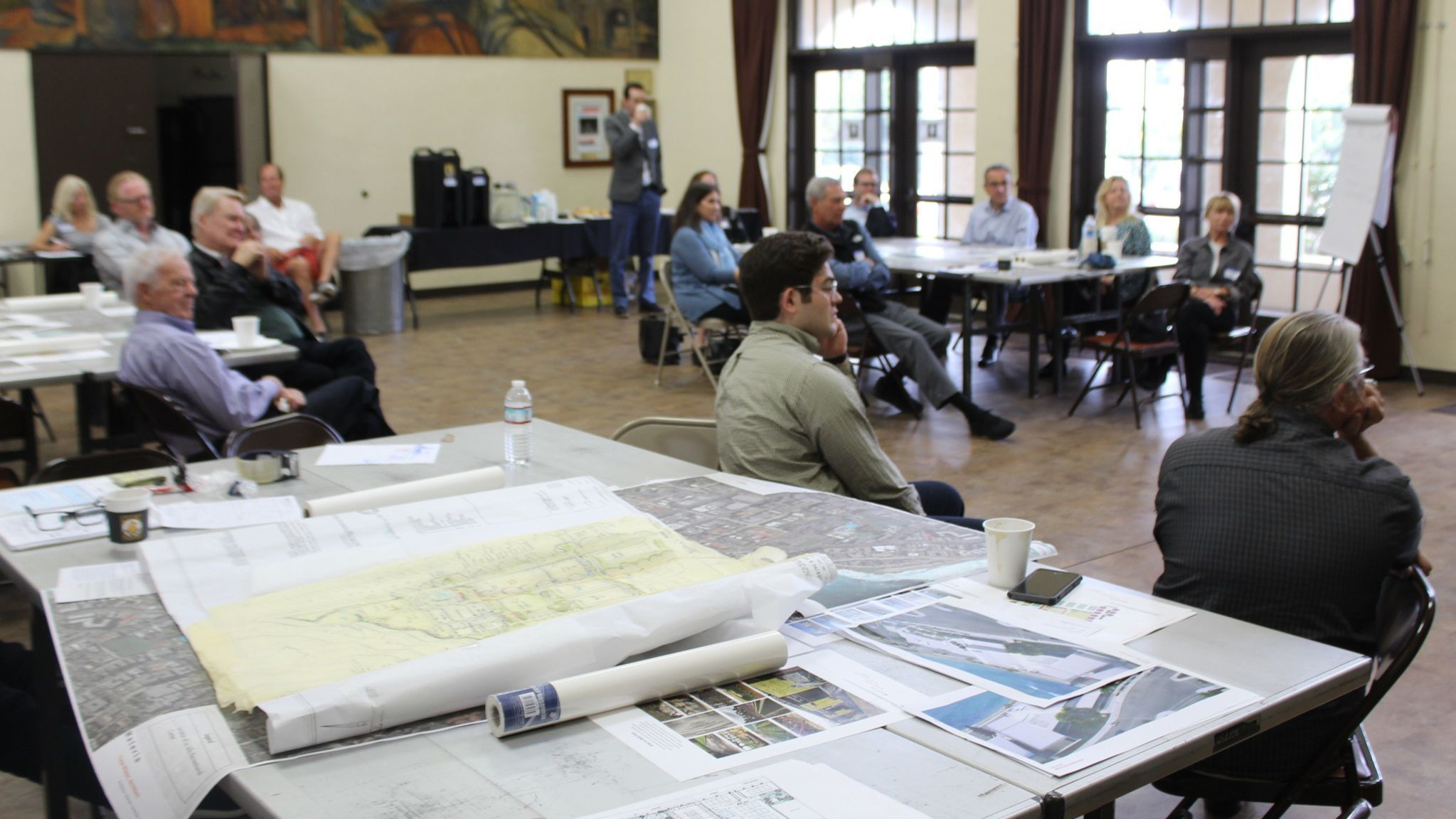 Architects, community leaders, environmentalists, historians and urban planners listen to presentations on the charette's second day.