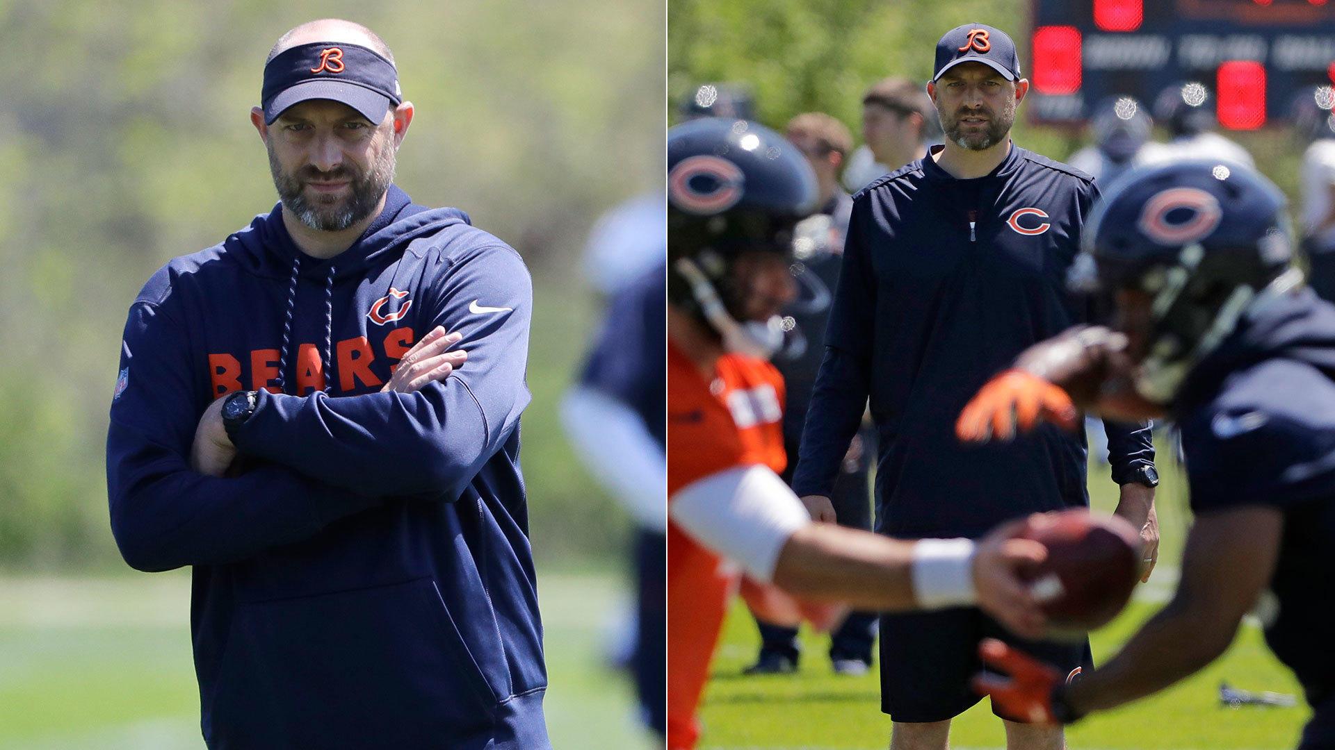 Bald guy in a visor  Bears coach Matt Nagy uses his head - Chicago Tribune 1a6da59b1f7