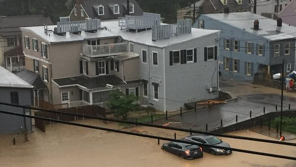Heavy rains in Baltimore area causing severe flooding