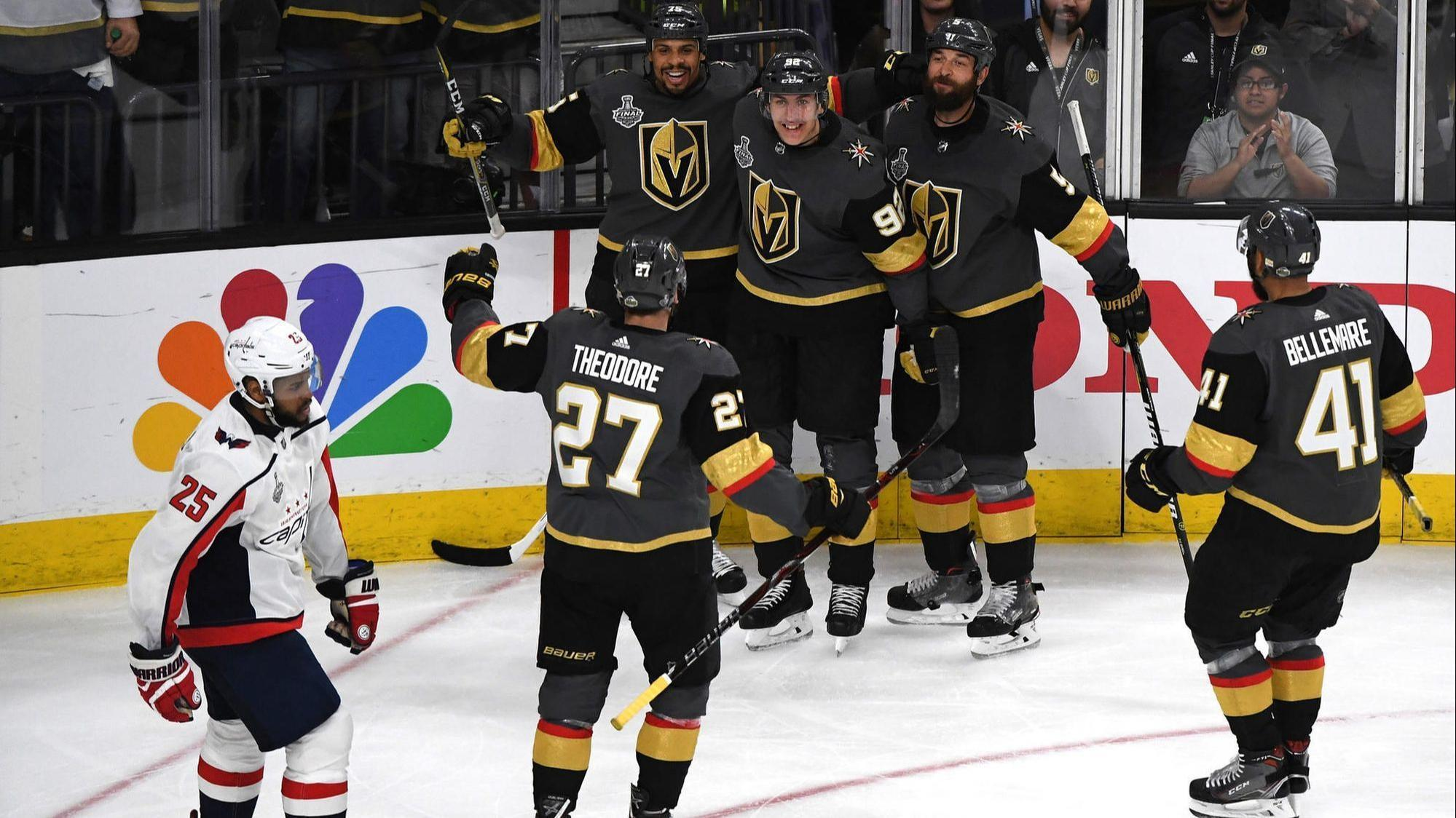 34e563cf8ae Golden Knights outlast Capitals 6-4 in Stanley Cup Final opener - Chicago  Tribune