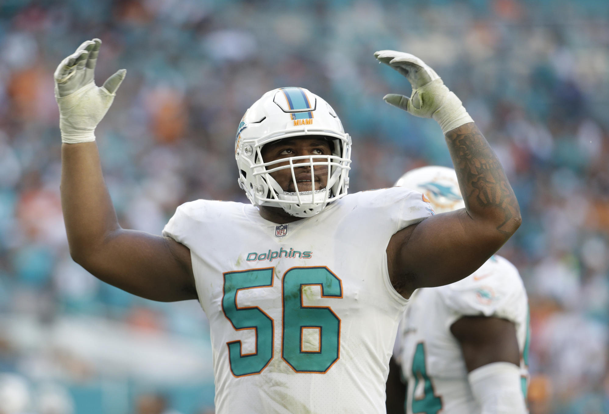 new product 234a6 32b2c Dolphins defensive tackle Davon Godchaux looking to stay ...