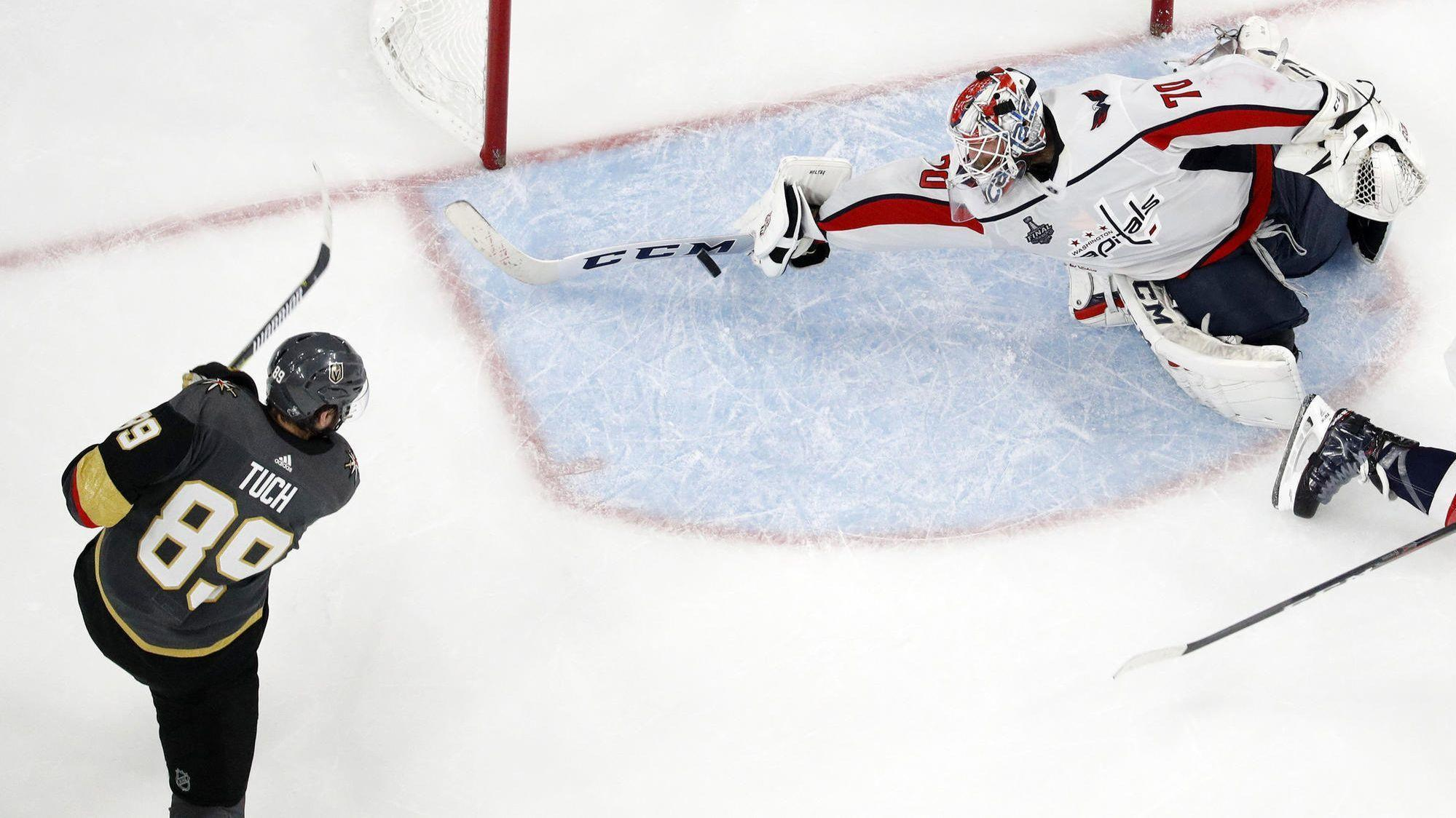 7340422bc0f Holtby s late save helps Capitals hold off Golden Knights