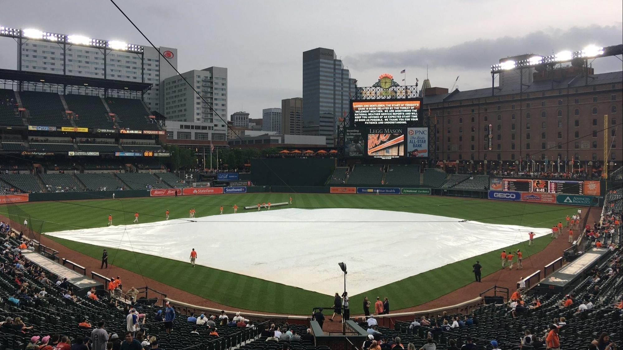 9481fd7bc Orioles-Yankees game postponed after two-hour delay  makeup will be part of  twin bill July 9