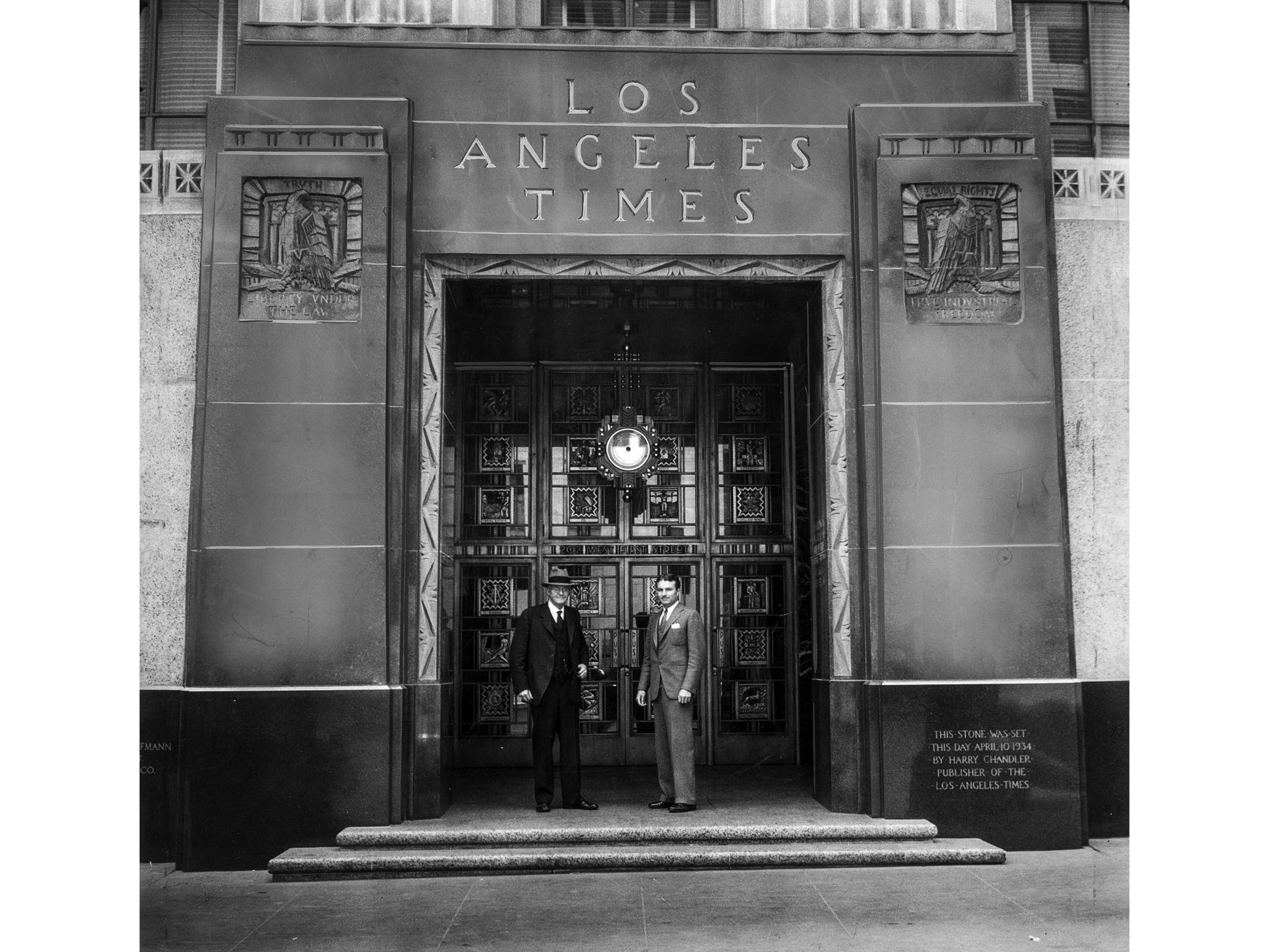 From the Archives: The Los Angeles Times building at 1st and Spring