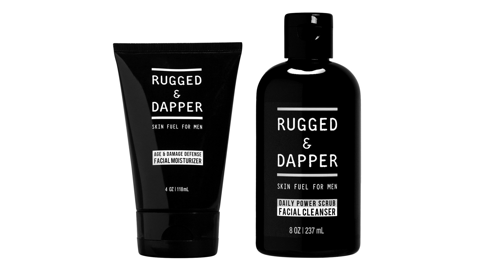 The Daily Facial Duo Cleanser + Moisturizing Set from Rugged & Dapper.