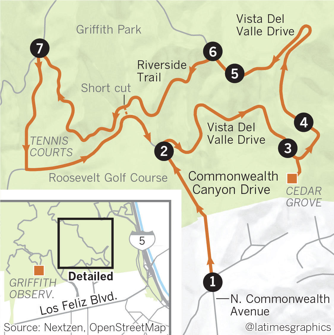 Griffith Park Los Angeles Map.A True L A Workout Hiking Griffith Park Los Angeles Times