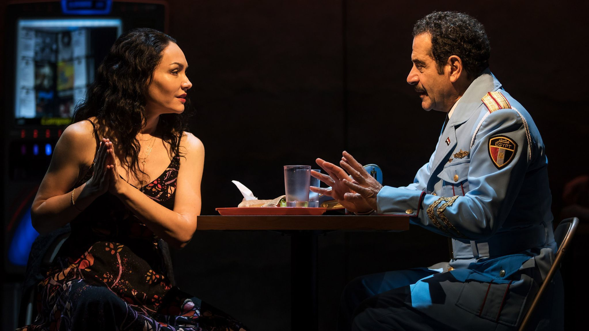 Katrina Lenk and Tony Shalhoub