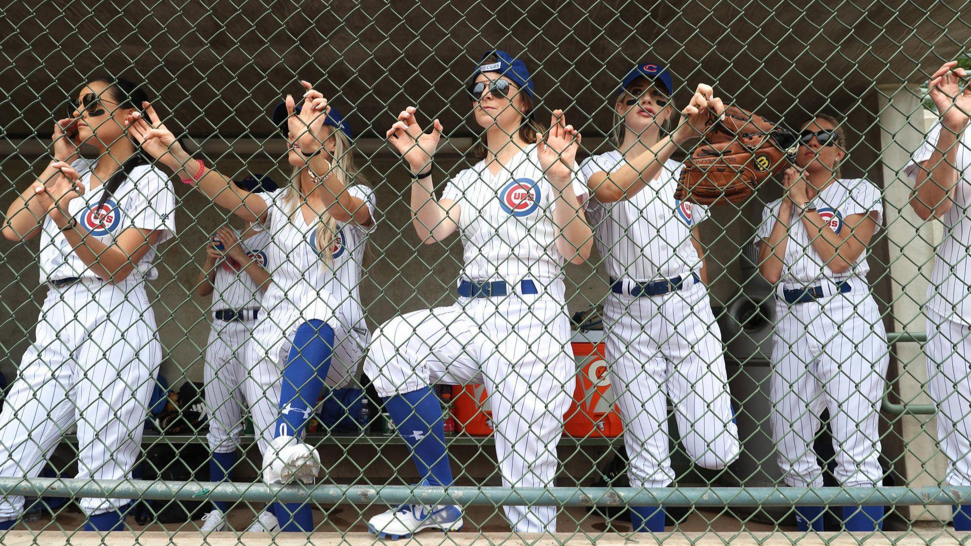 3ff3de863af Cubs wives lose softball showdown with Brewers but win for RBI charity
