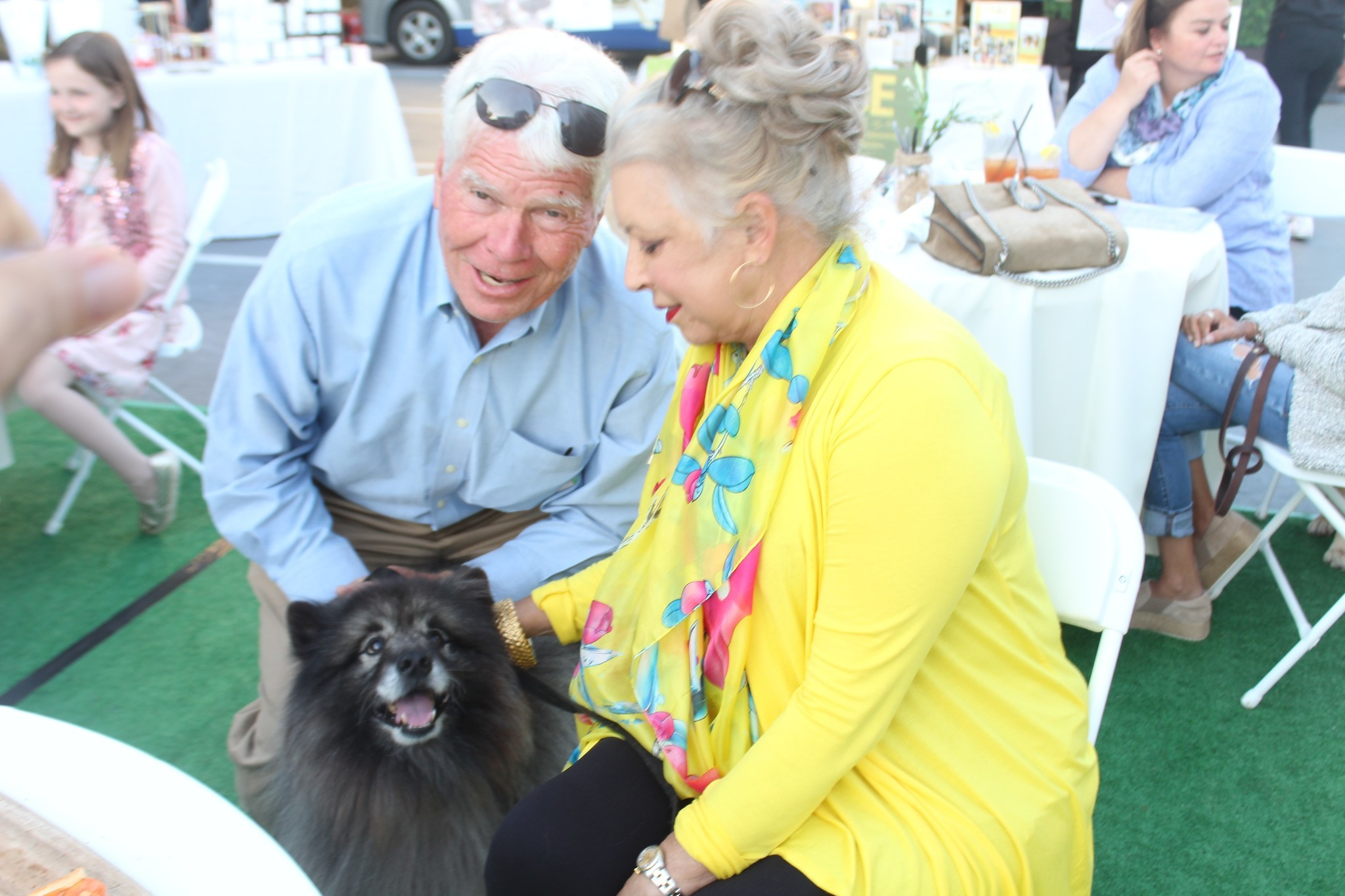 Carolynn LaPierre tries telling her husband, Dex, that Heidi is a Keeshond, not a pony.