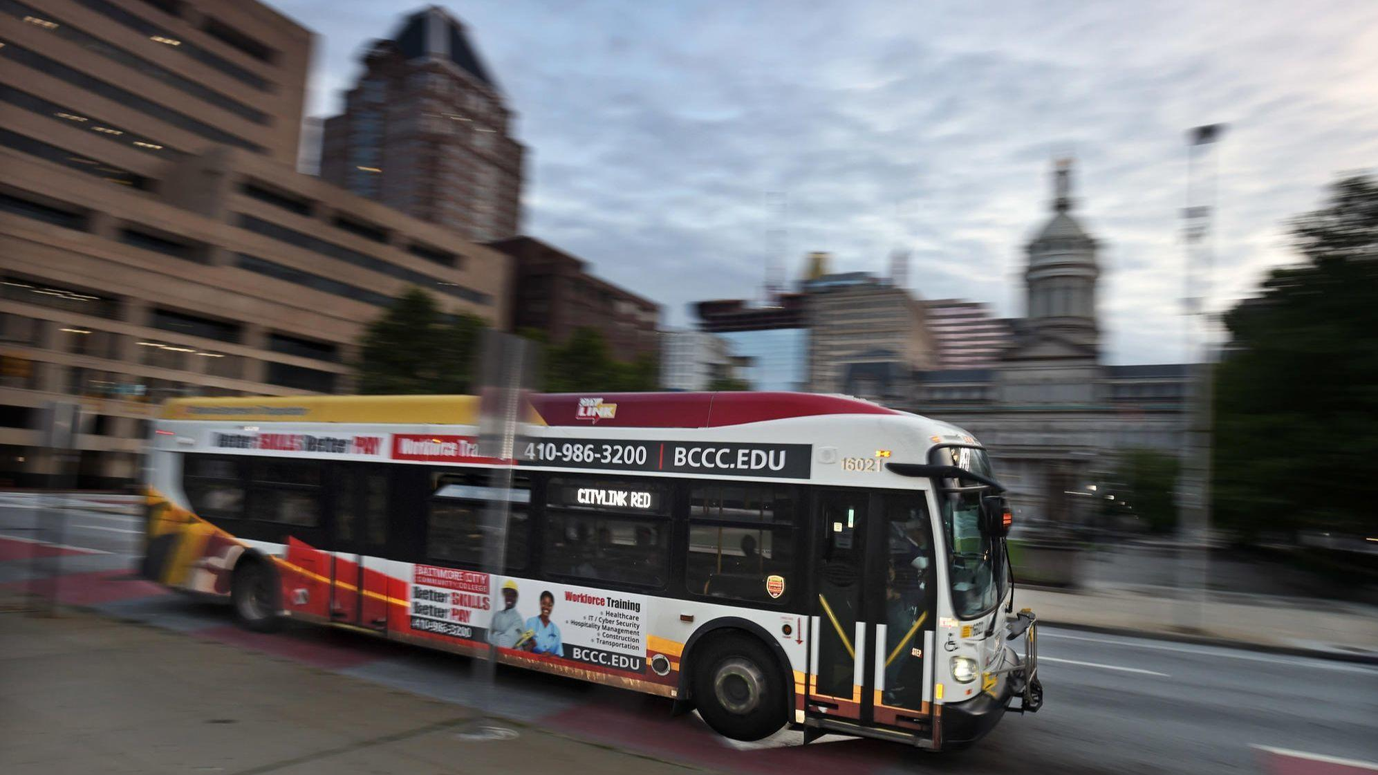 With Gps Installed On Baltimore Buses Mta Debuts Real