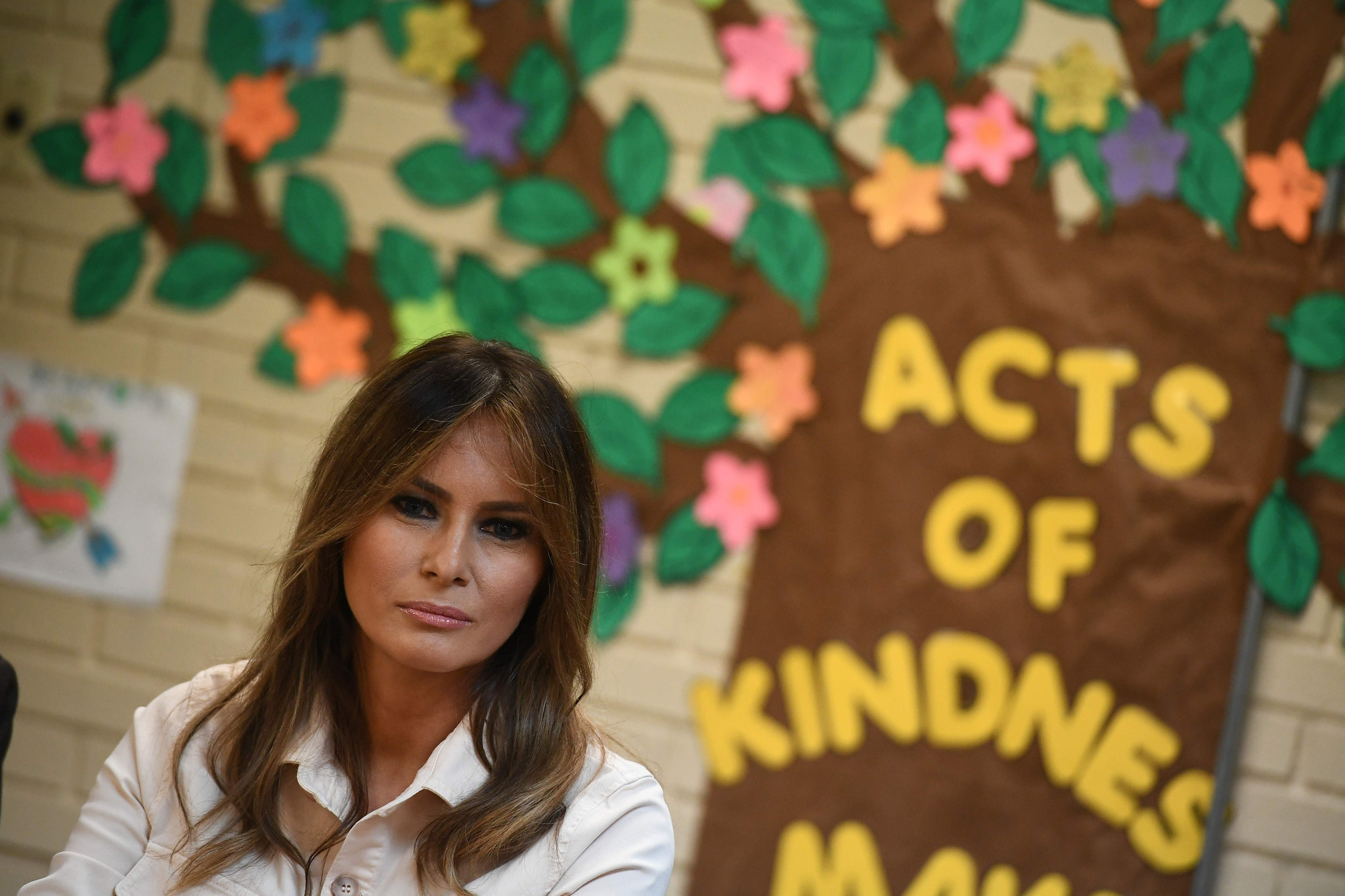 First lady Melania Trump visits migrant children at Texas detention center