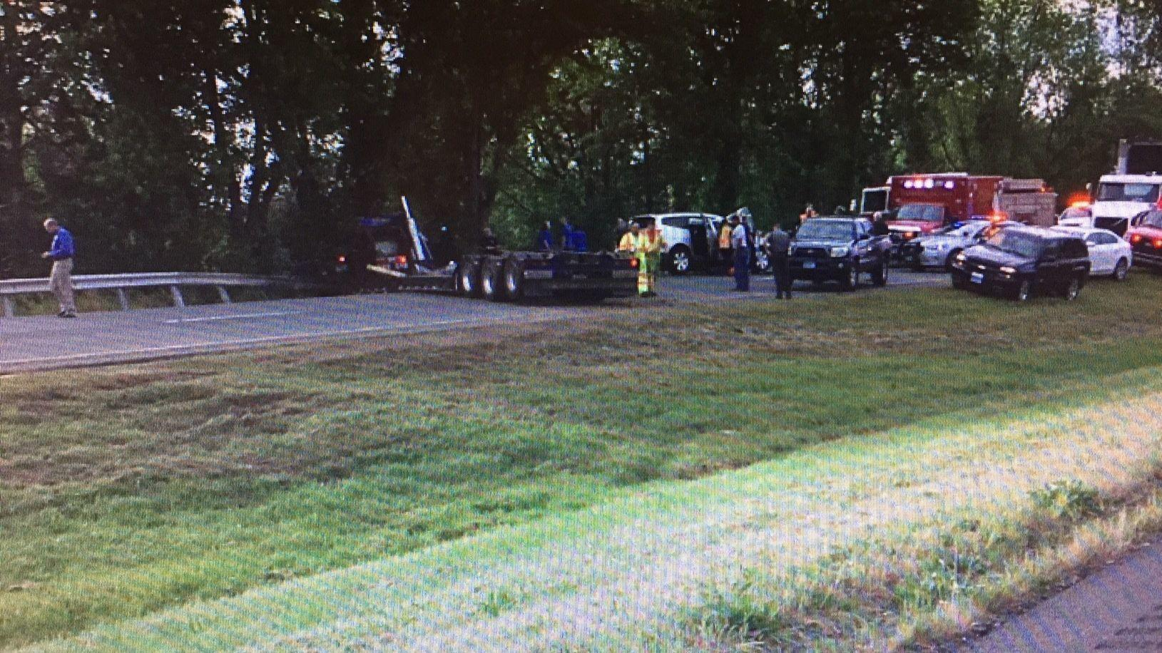 Police: Rig Driver Died After Veering Off Route 9 In Cromwell Into