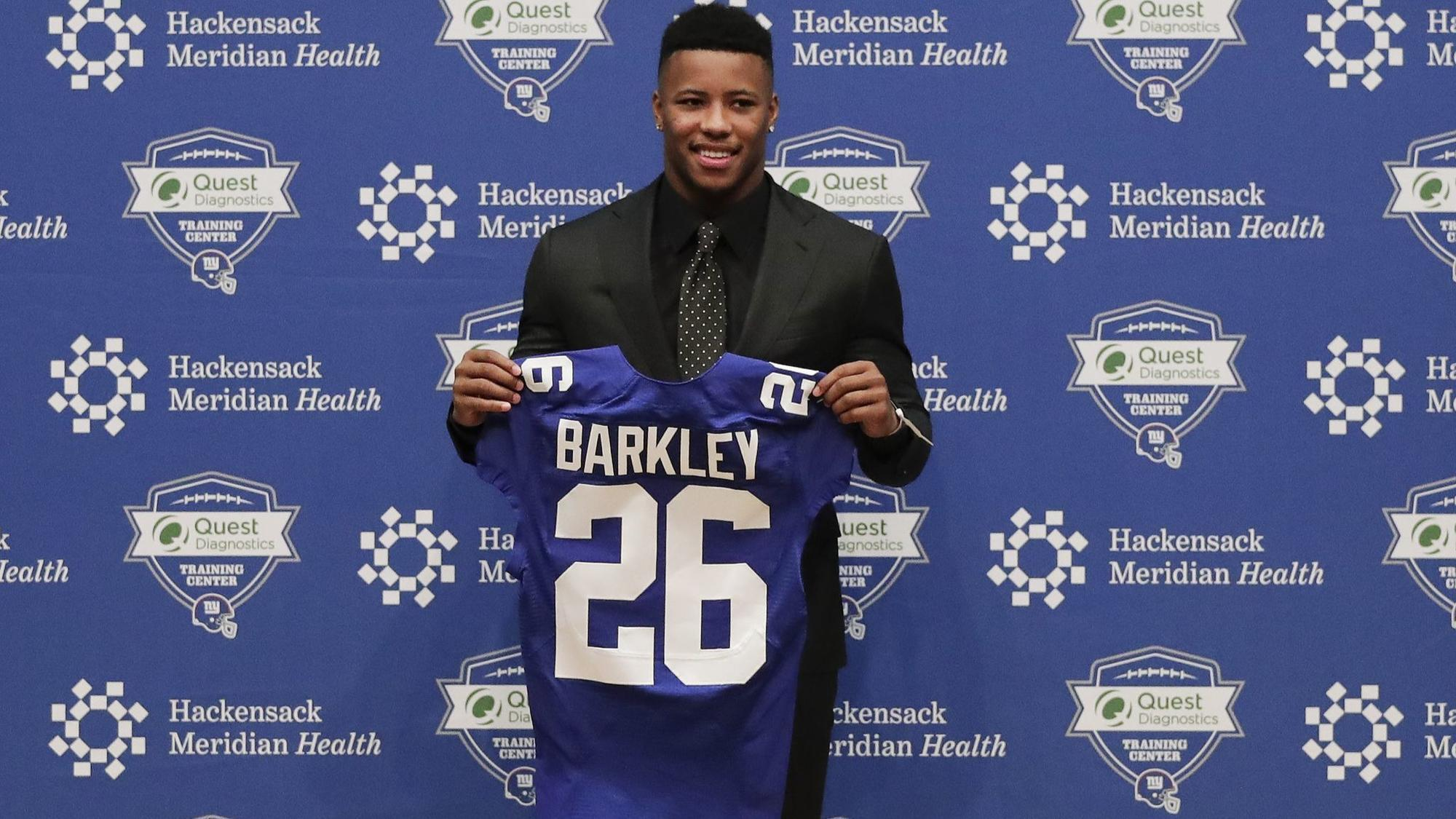 size 40 95f09 8dc47 Saquon Barkley tops Carson Wentz for the NFL's best-selling ...
