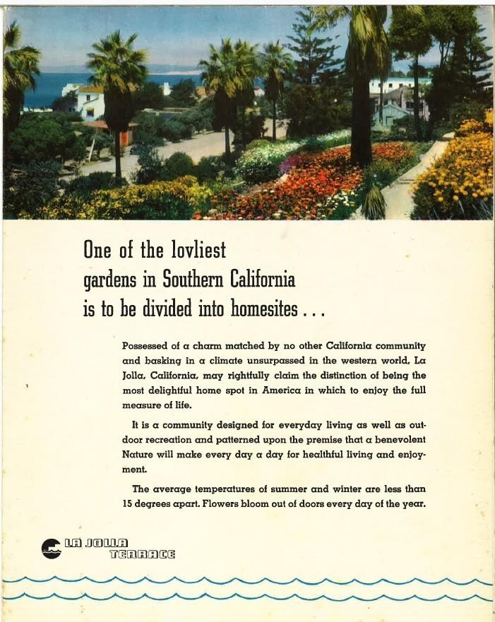 Brochure for La Jolla Terrace